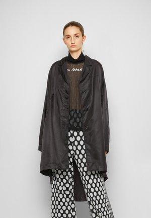 TRENCH COAT - Leren jas - black