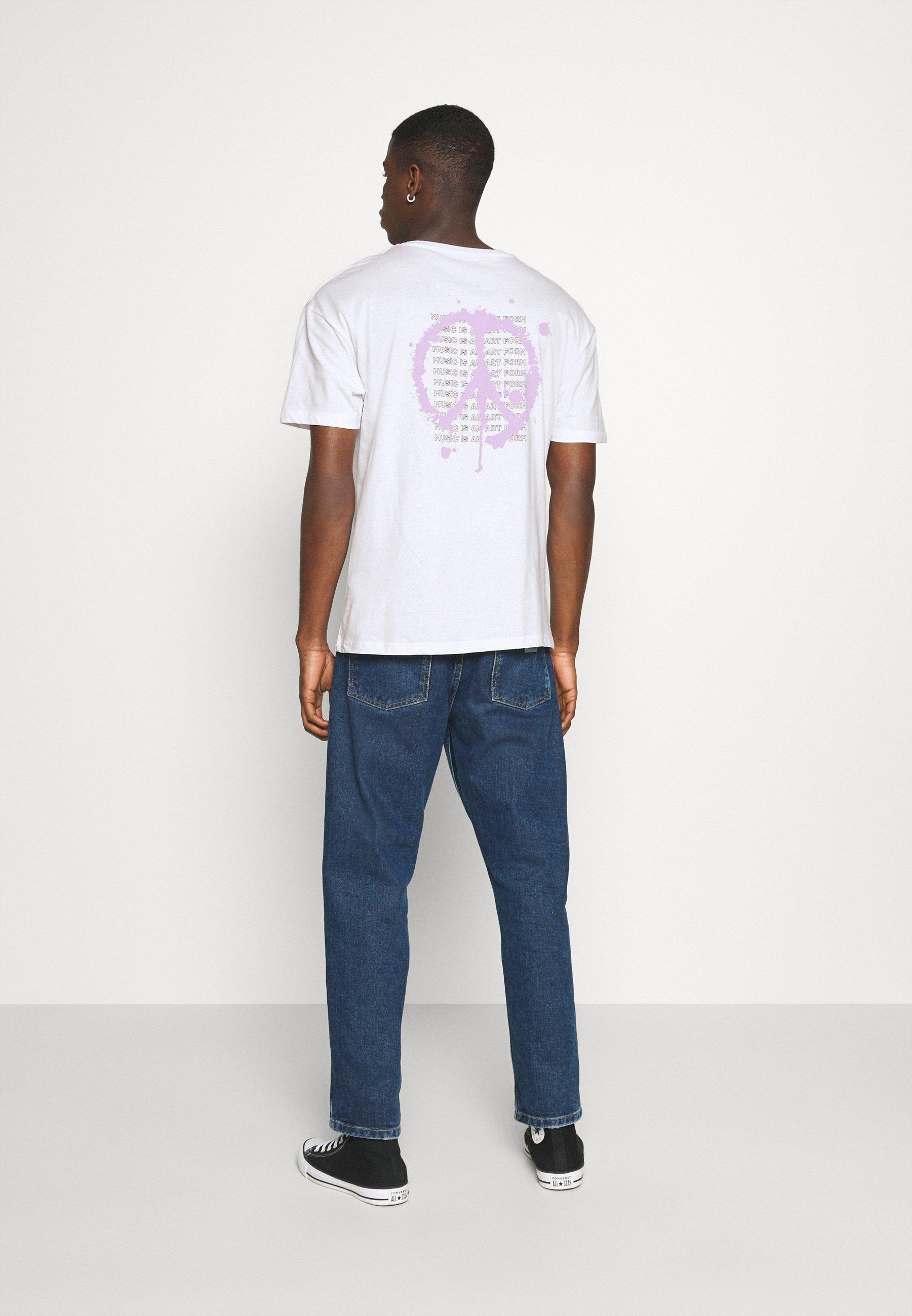 Jack & Jones JORSPRAY TEE CREW NECK - Print T-shirt - white sHsNH