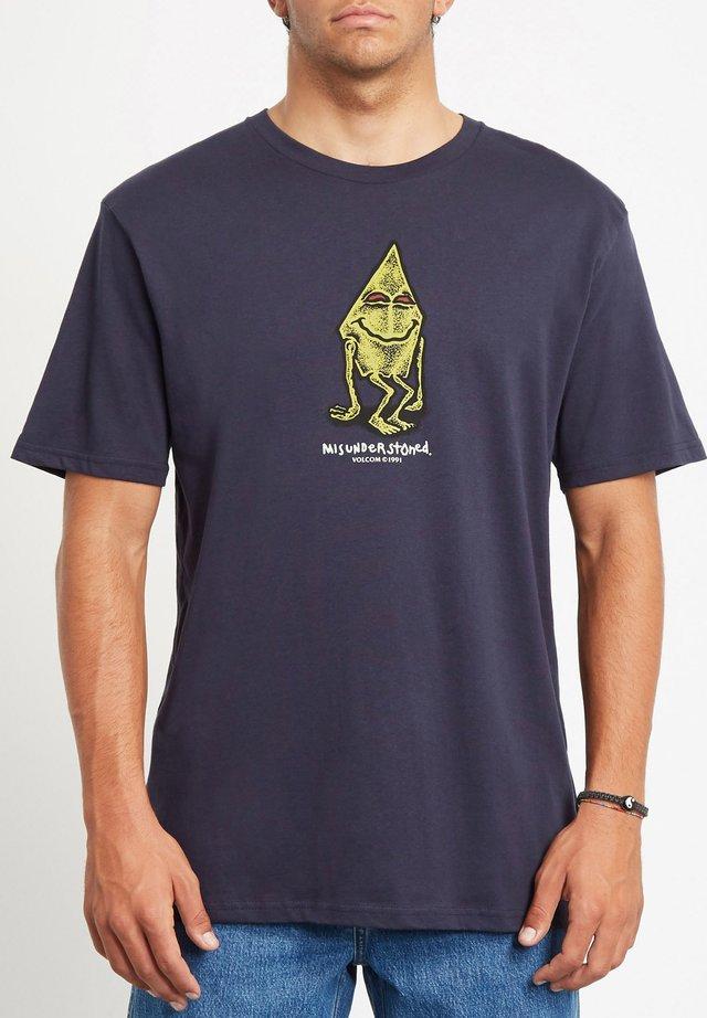 MISUNDERSTONED  - T-shirt print - navy
