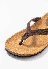 Scholl - TISTOIS - T-bar sandals - marron fonce - 2