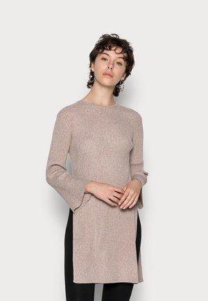 KYLIE - Gebreide jurk - taupe marl