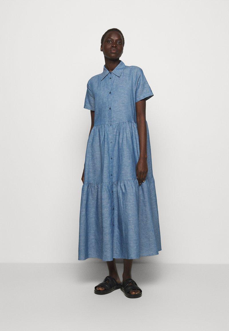 HUGO - ENNISH - Košilové šaty - medium blue