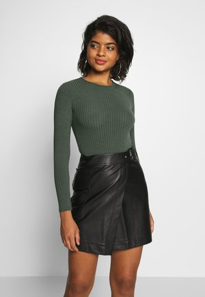 CREW NECK BODY - Long sleeved top - dark khaki