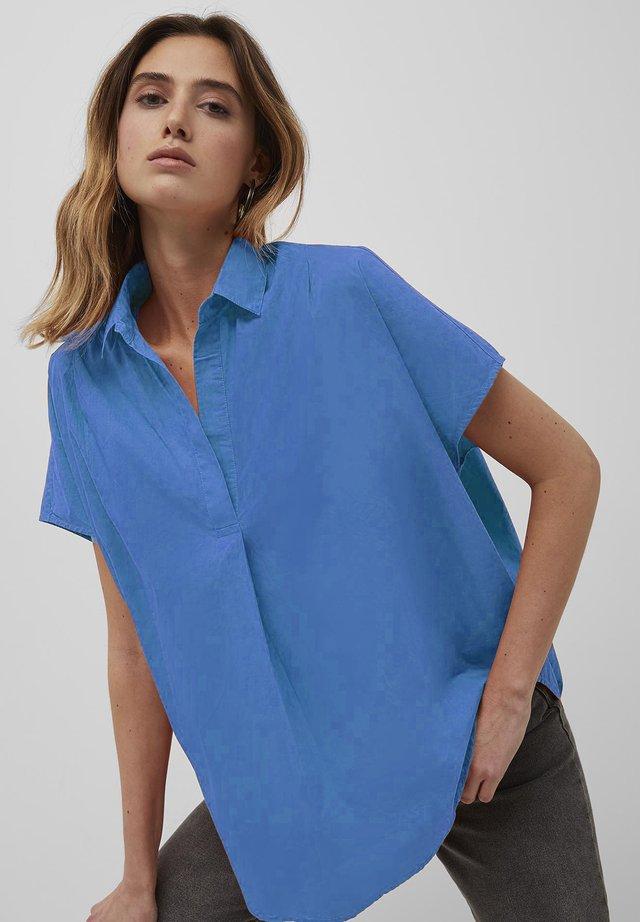 Button-down blouse - bay blue