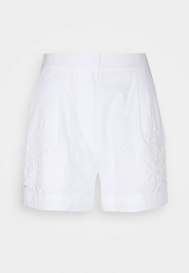 BRODERIE ANGLAISE - Short - offwhite