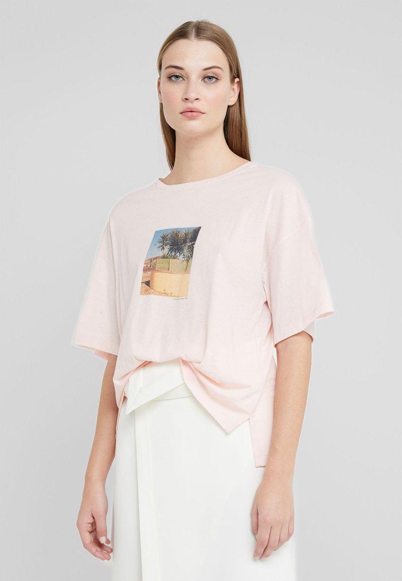 CLOSED - Triko spotiskem - soft pink