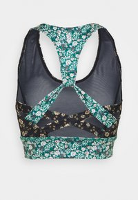 Free People - PRINTED SYNERGY CROP - Light support sports bra - black combo - 7