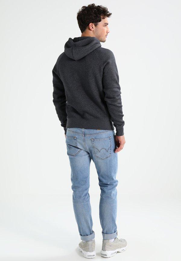 GANT SHIELD HOODIE - Bluza z kapturem - anthrazit melange/ciemnoszary Odzież Męska ZIGG