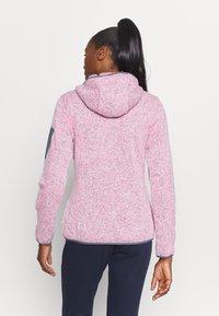 CMP - WOMAN JACKET FIX HOOD - Fleece jacket - pink fluo melange/graffite - 2