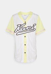 Karl Kani - VARSITY BLOCK PINSTRIPE BASEBALL SHIRT - Print T-shirt - white - 3