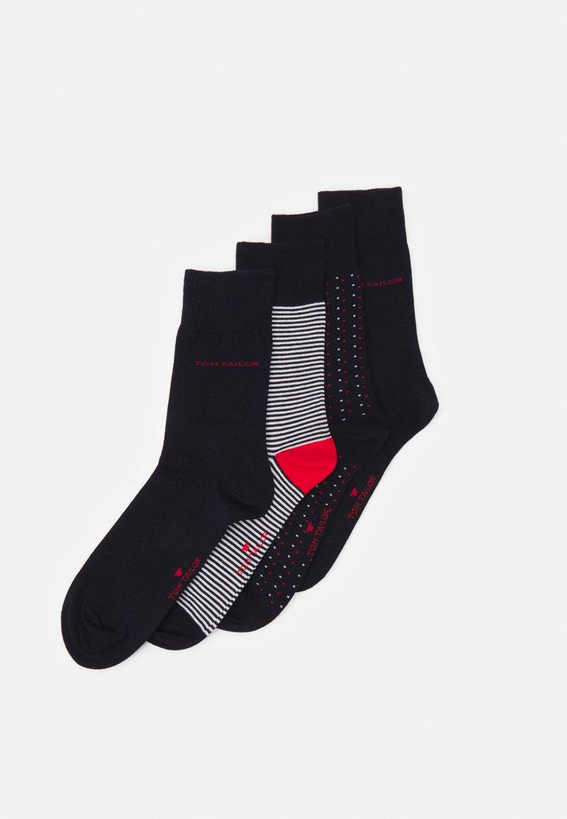 TOM TAILOR - SOCKS 4 PACK - Ponožky - dark blue