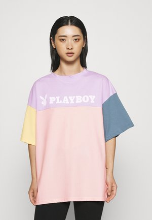 PLAYBOY COLOURBLOCK OVERSZIED  - T-shirt imprimé - multi