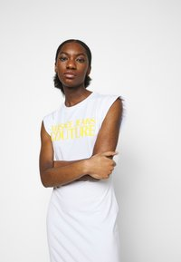 Versace Jeans Couture - ACTIVE DRESS - Jersey dress - optical white - 4