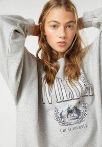 PULL&BEAR - Sweatshirt - mottled dark grey - 3