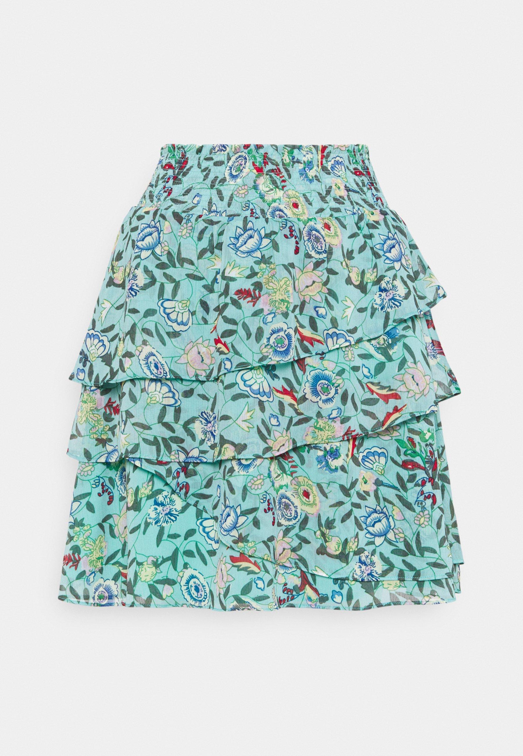Women SKIRT FLOWER GARDEN PRINT - A-line skirt