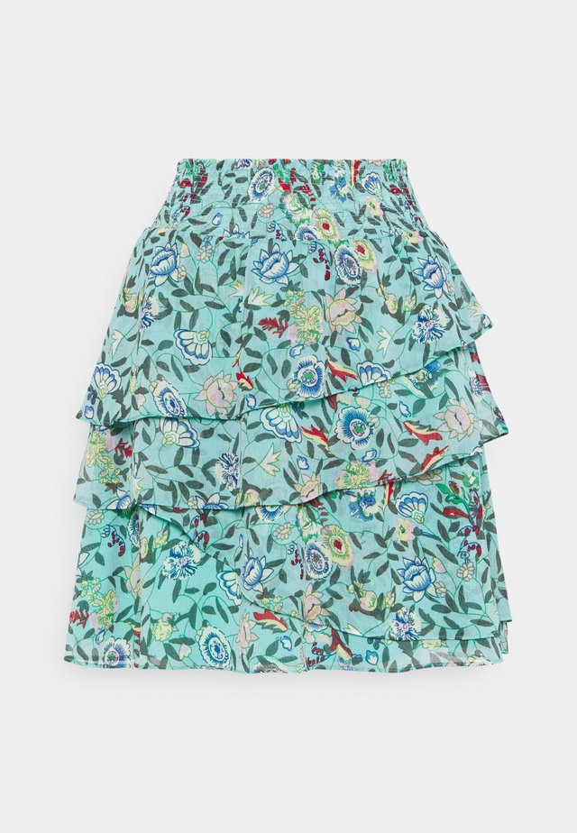 SKIRT FLOWER GARDEN PRINT - A-line skirt - green