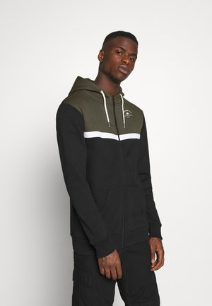 TACK HOOD - veste en sweat zippée - black