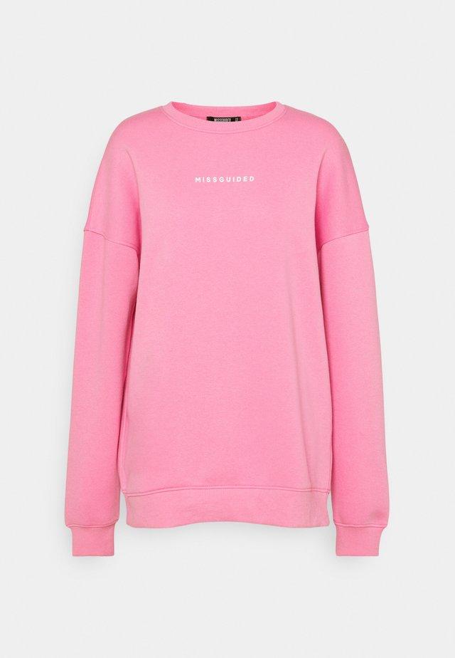 GRAPHIC OVERSIZED - Sweatshirt - pink
