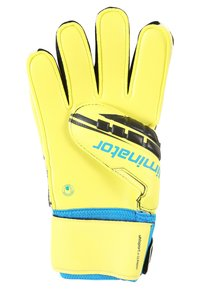 Uhlsport - ELIMINATOR SUPERSOFT - Goalkeeping gloves - lite fluo gelb/schwarz/hydro blau - 2