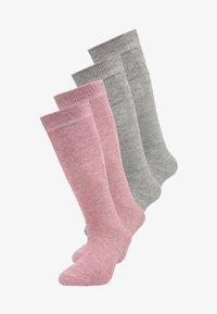 camano - SOFT KNEE 4 PACK - Knee high socks - chalk pink melange - 0
