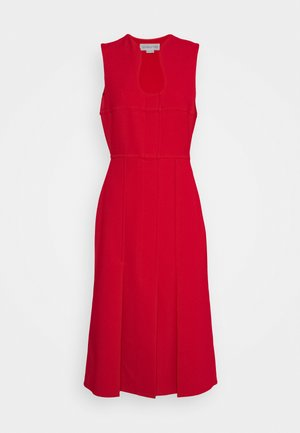 CUT OUT FIT AND FLARE - Shift dress - red