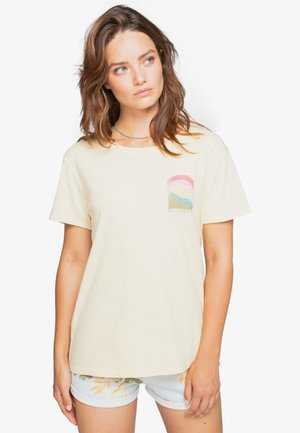 RAYS OF SUN  - Print T-shirt - light honey