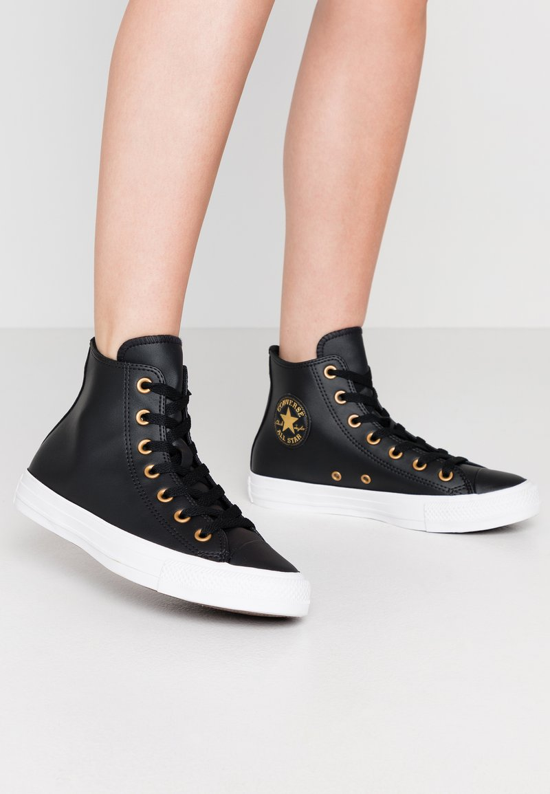 Converse - CHUCK TAYLOR ALL STAR - Sneakers alte - black/gold/white