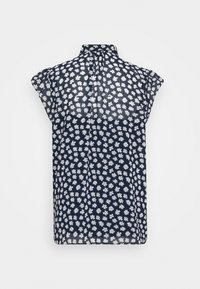 J.CREW - TIE NECK BLOUSE IN SCATTERED DAISIES - Blouse - navy/ivory - 1