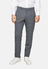 s.Oliver BLACK LABEL - Pantaloni eleganti - dark blue check - 6