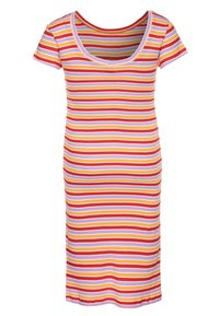 Mads Nørgaard - SOFTY STRIPE DRAPINA - Strikkjoler - multicolor/red - 1