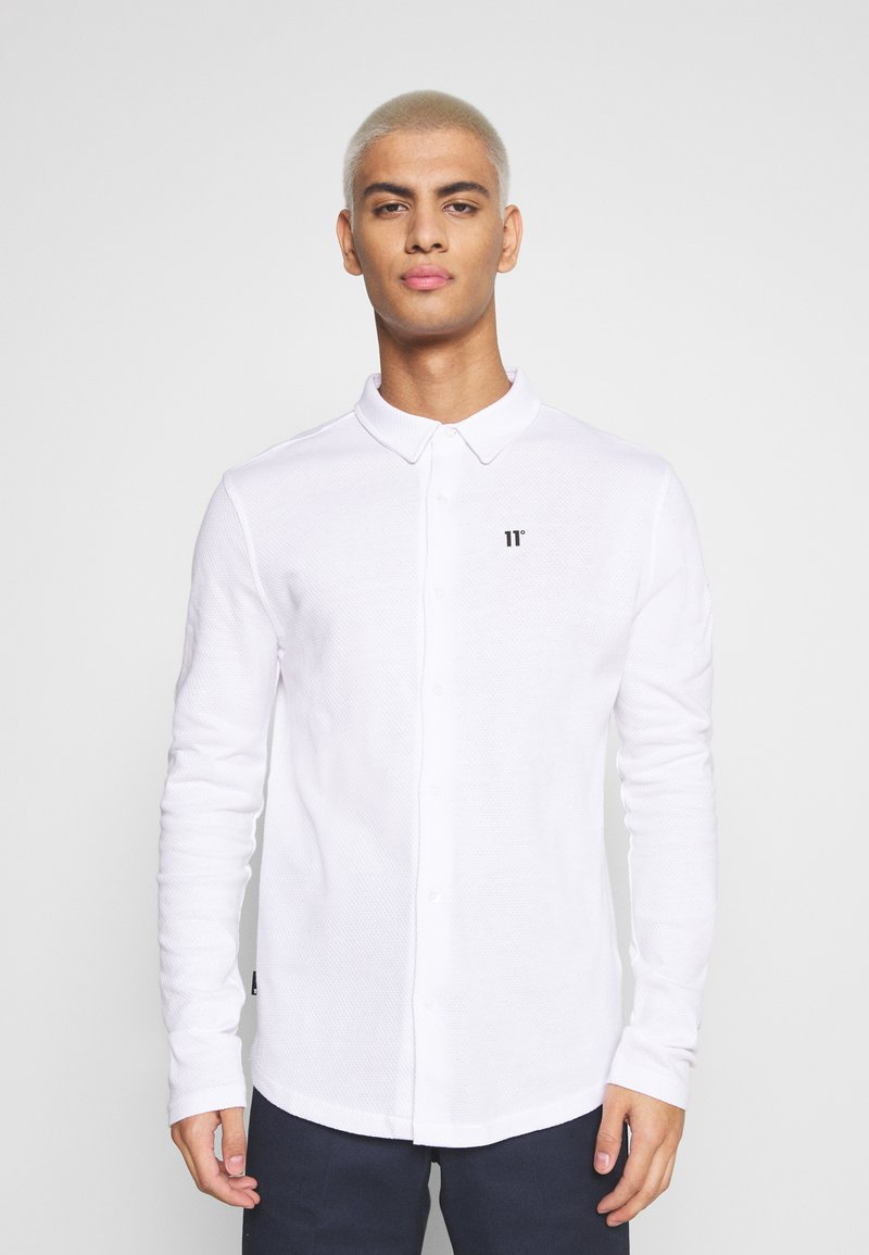 11 DEGREES - TEXTURED MUSCLE FIT  - Shirt - white