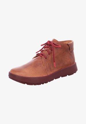 COMODA - Lace-up ankle boots - cognac