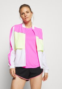 Puma - LITE WARM UP JACKET - Sports jacket - puma white/luminous pink/fizzy yellow - 0