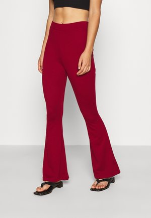 Leggings - Flared Leg Trousers - Leggings - Trousers - red