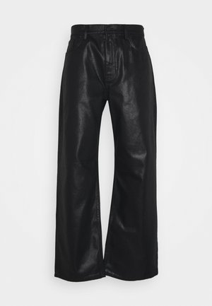 COATED - Jeans Relaxed Fit - black