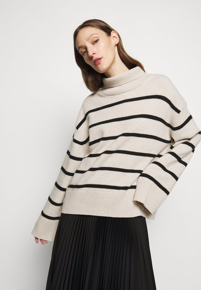 MAZZY STRIPE - Pullover - off-white