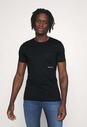 MICRO BRANDING POCKET TEE - T-Shirt print - black