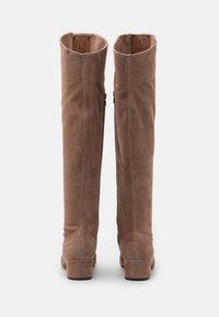 L'Autre Chose - BOOT ZIP - Stivali sopra il ginocchio - nude - 3