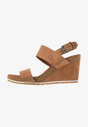 CAPRI SUNSET WEDGE - Platform sandals - rust
