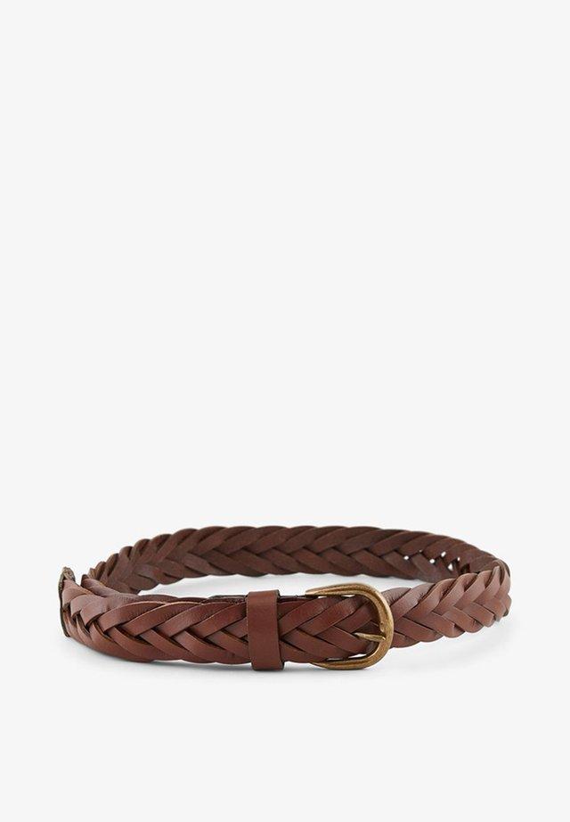 Braided belt - rust