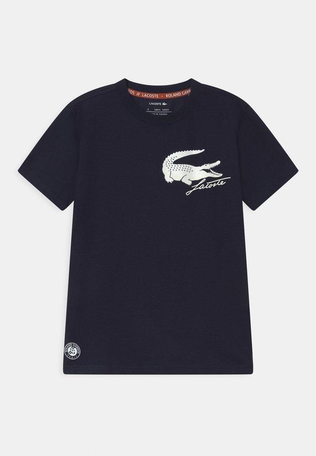 UNISEX - T-shirt med print - navy blue/white