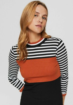 FITTED - Long sleeved top - black