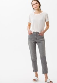 BRAX - STYLE MARY  - Straight leg jeans - light grey - 1