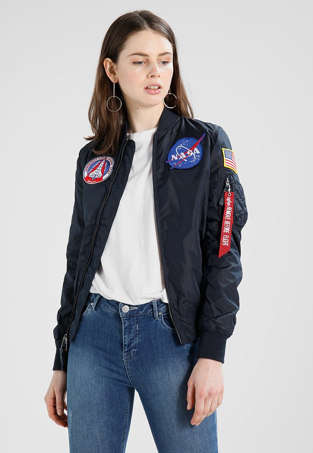 NASA REVERSIBLE  - Bomber Jacket - dark blue