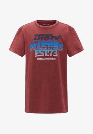 T-shirt z nadrukiem - maroon