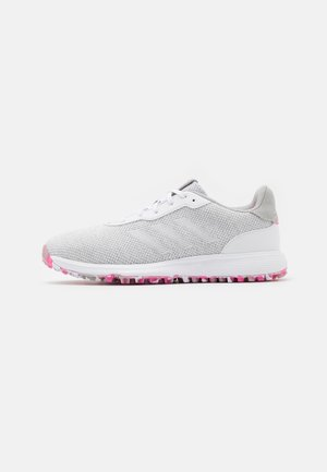 S2G LACE - Golfschoenen - grey three/footwear white/pink
