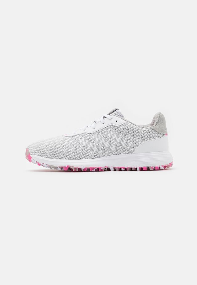 S2G LACE - Golfkengät - grey three/footwear white/pink