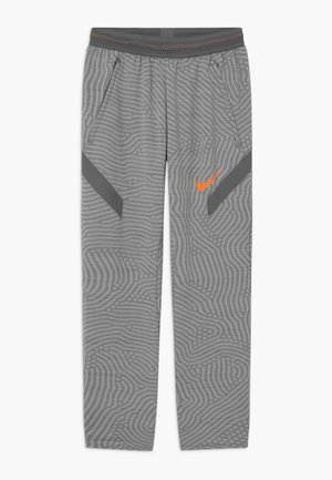 DRY STRIKE  - Tracksuit bottoms - smoke grey/total orange