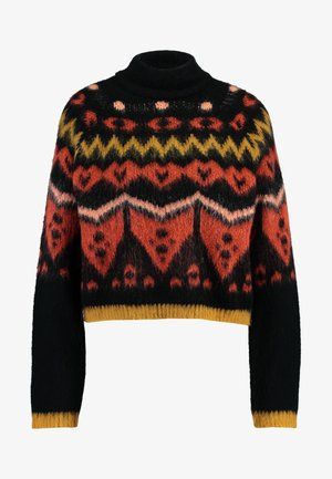 Jumper - black/tandori spice/burnt coral