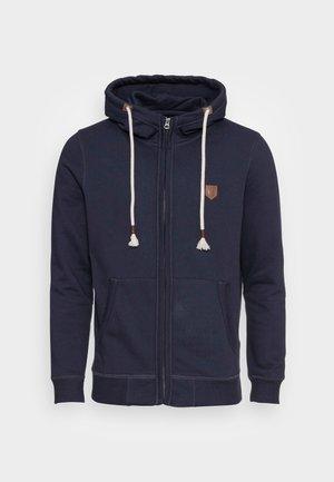 JPRBLUDAN ZIP HIGH NECK HOOD - Sudadera con cremallera - navy blazer